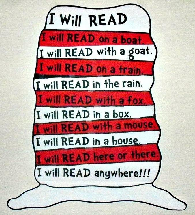 Dr. Seuss joke: I will read anywhere!
