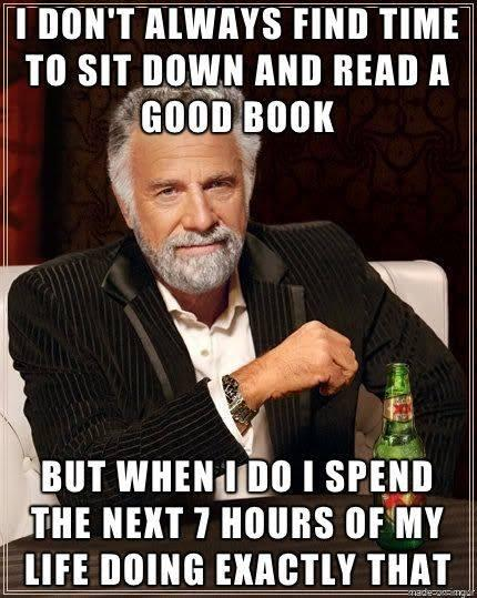 I don't always find time to sit down and read a good book.