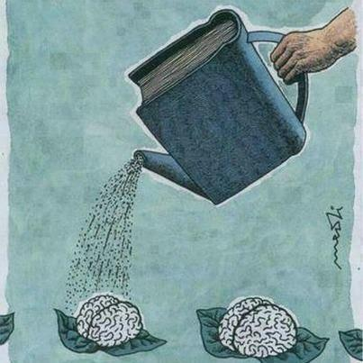 Reading helps the brain grow.